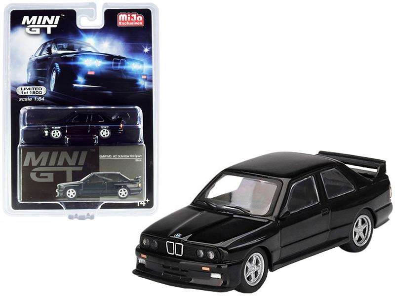 BMW M3 AC Schnitzer S3 Sport Black Limited Edition 1800 pieces Worldwide 1/64 Diecast Model Car True Scale Miniatures MGT00119