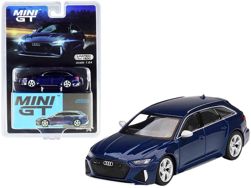 Audi RS 6 Avant Navarra Blue Metallic Limited Edition 1800 pieces Worldwide 1/64 Diecast Model Car True Scale Miniatures MGT00186