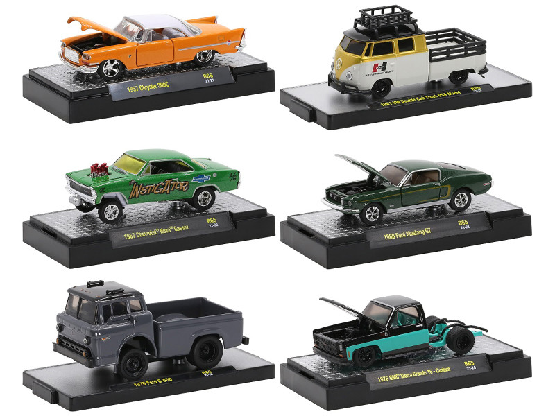 Auto Trucks 6 piece Set Release 65 IN DISPLAY CASES Limited Edition 7250 pieces Worldwide 1/64 Diecast Model Cars M2 Machines 32500-65