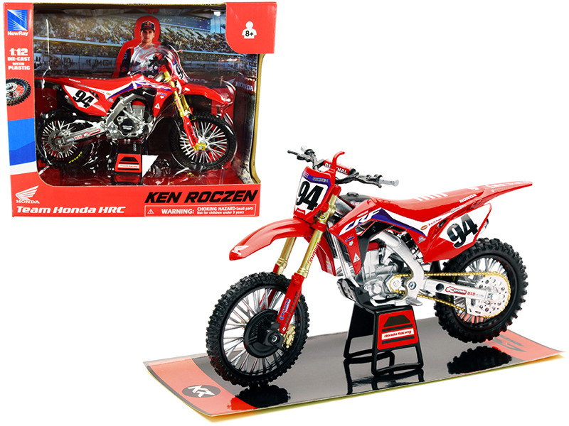 Honda CRF450R #94 Ken Roczen Red Honda HRC Team Race Bike 1/12 Diecast Motorcycle Model New Ray 58263