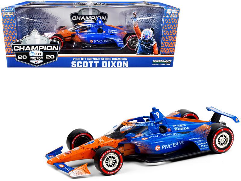 Dallara IndyCar #9 Scott Dixon Champion PNC Bank Chip Ganassi Racing NTT IndyCar Series 2020 1/18 Diecast Model Car Greenlight 11104