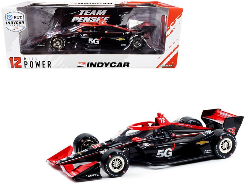 Dallara IndyCar #12 Will Power Verizon 5G Team Penske Road Course Configuration NTT IndyCar Series 2021 1/18 Diecast Model Car Greenlight 11116