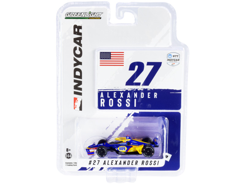 Dallara IndyCar #27 Alexander Rossi NAPA Auto Parts Andretti Autosport NTT IndyCar Series 2021 1/64 Diecast Model Car Greenlight 11507