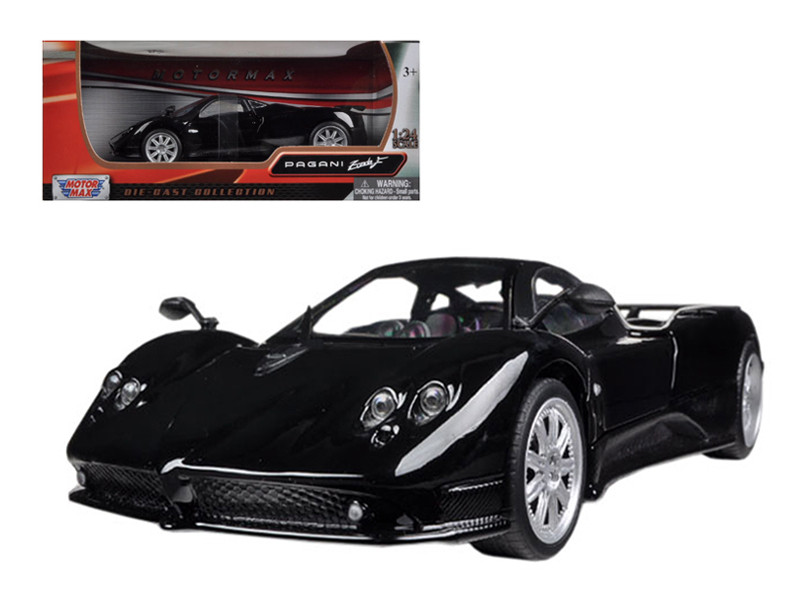 Pagani Zonda F Black 1/24 Diecast Car Model Motormax 73369