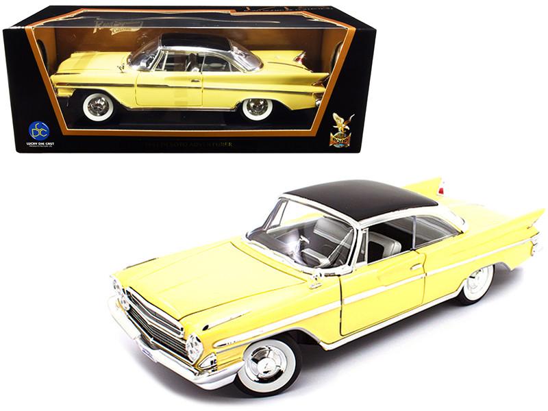 1961 Desoto Adventurer Yellow 1/18 Diecast Model Car Road Signature 92738