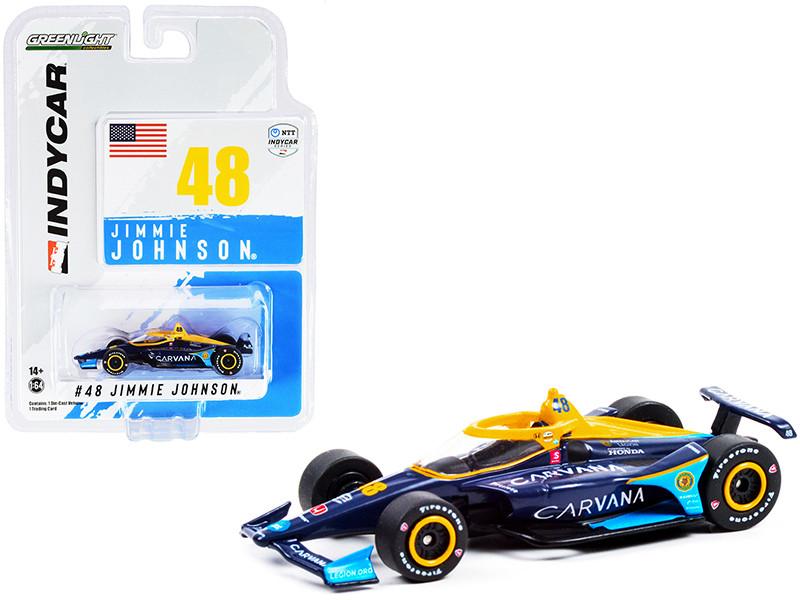 Dallara IndyCar #48 Jimmie Johnson Carvana Chip Ganassi Racing NTT IndyCar Series 2021 1/64 Diecast Model Car Greenlight 11501