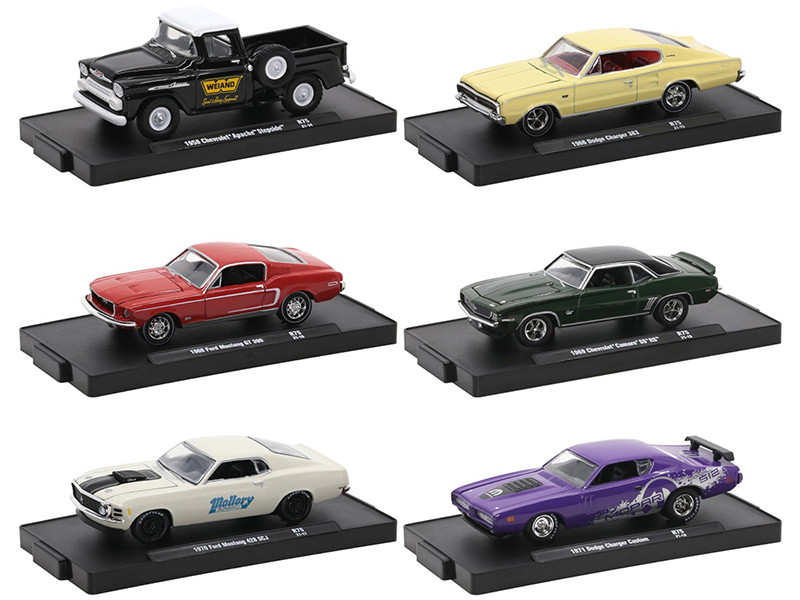 Auto-Drivers Set of 6 pieces in Blister Packs Release 75 Limited Edition 8480 pieces Worldwide 1/64 Diecast Model Cars M2 Machines 11228-75