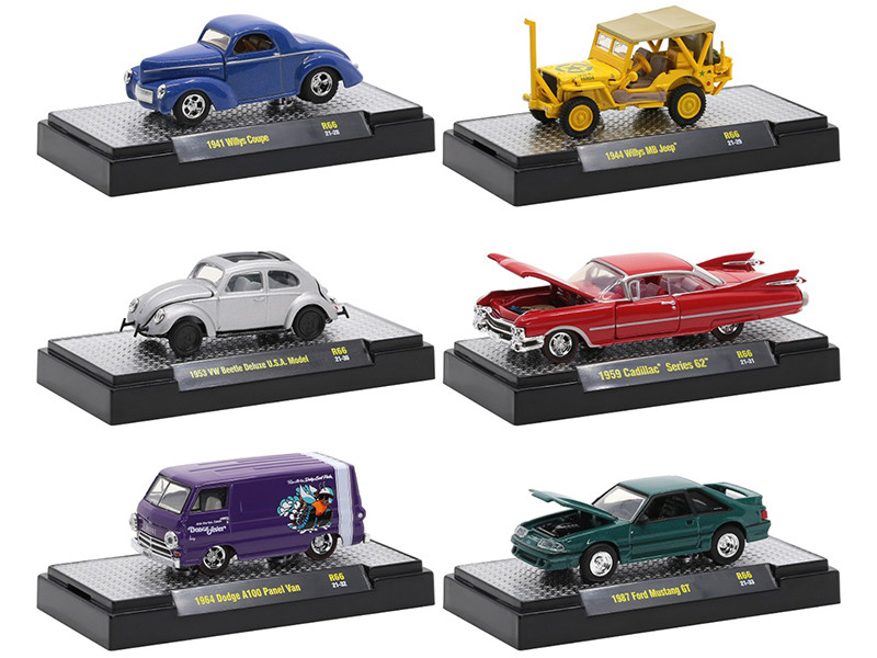 Auto Trucks 6 piece Set Release 66 IN DISPLAY CASES Limited Edition 7250 pieces Worldwide 1/64 Diecast Model Cars M2 Machines 32500-66