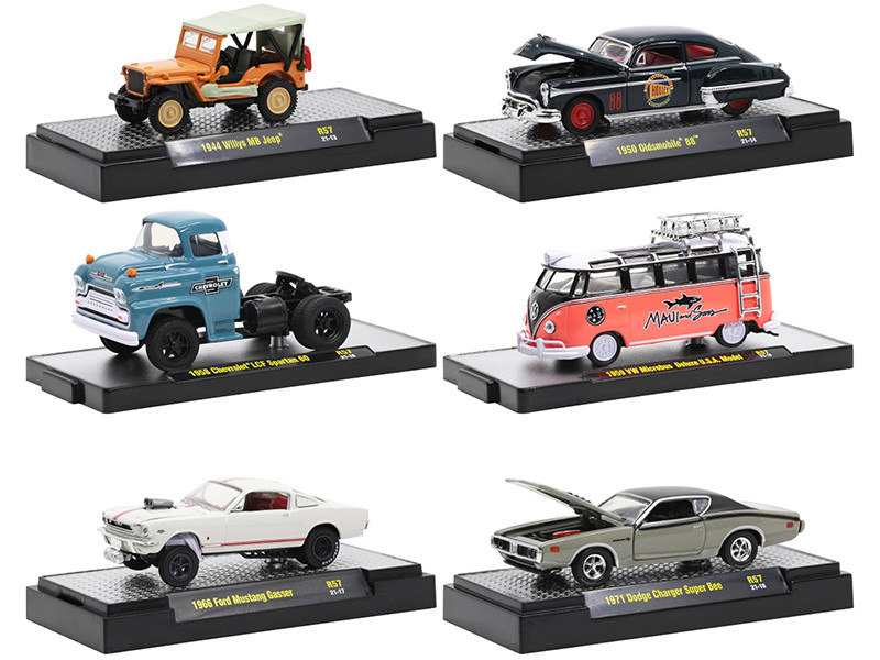 Auto Meets Set of 6 Cars IN DISPLAY CASES Release 57 Limited Edition 7650 pieces Worldwide 1/64 Diecast Model Cars M2 Machines 32600-57
