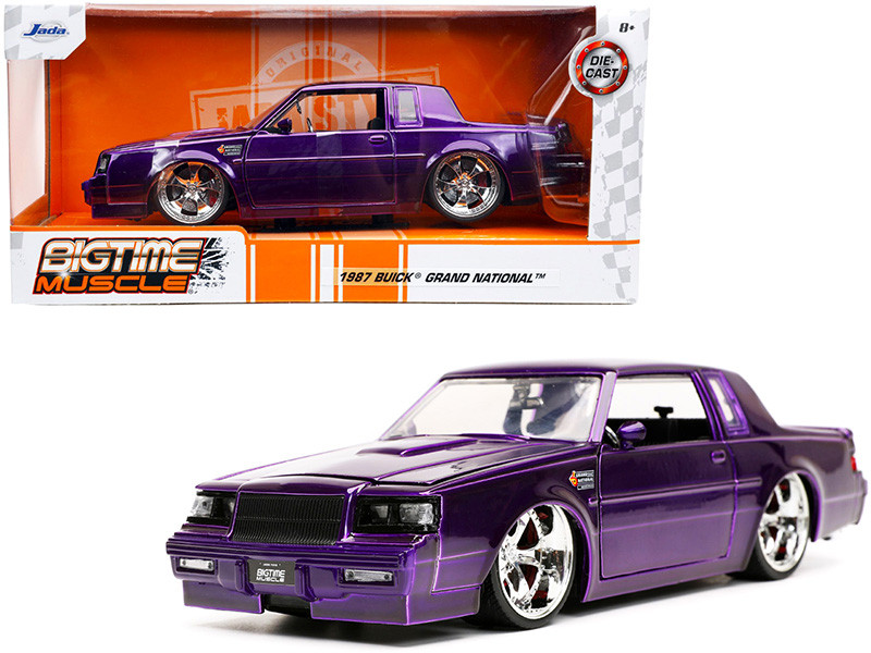 1987 Buick Grand National Candy Purple Bigtime Muscle Series 1/24 Diecast Model Car Jada 32698