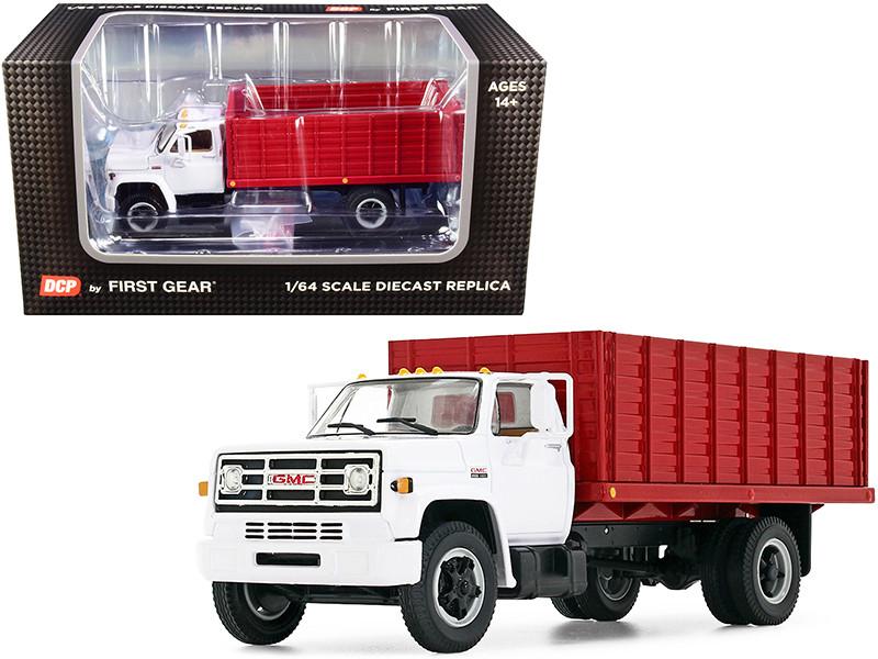 GMC 6500 Grain Truck White Red 1/64 Diecast Model DCP First Gear 60-0914