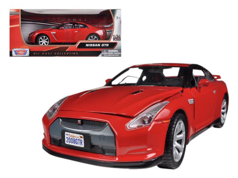 Nissan GT-R R-35 Red 1/24 Diecast Car Model Motormax 73384
