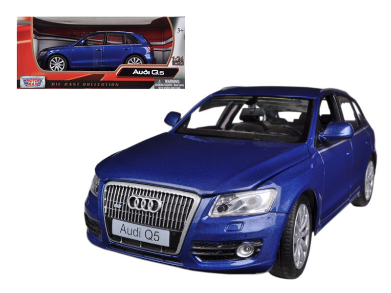 Audi Q5 Blue 1/24 Diecast Car Model Motormax 73385