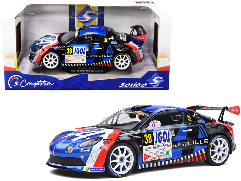 Alpine A110 RGT #38 Francois Delecour Rally Mont Blanc 2020 Competition Series 1/18 Diecast Model Car Solido S1801607