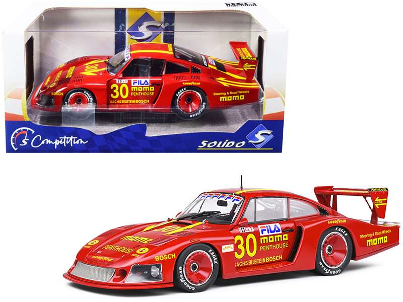 Porsche 935 Mobydick RHD Right Hand Drive #30 Gianpiero Moretti MOMO Penthouse Competition Series 1/18 Diecast Model Car Solido S1805403