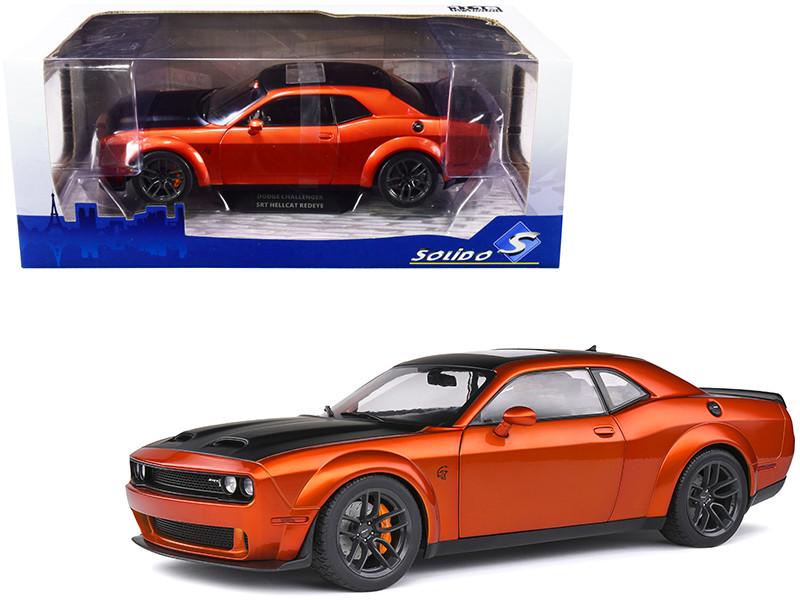 Dodge Challenger SRT Hellcat Redeye Widebody Sunroof Orange Black 1/18 Diecast Model Car Solido S1805703