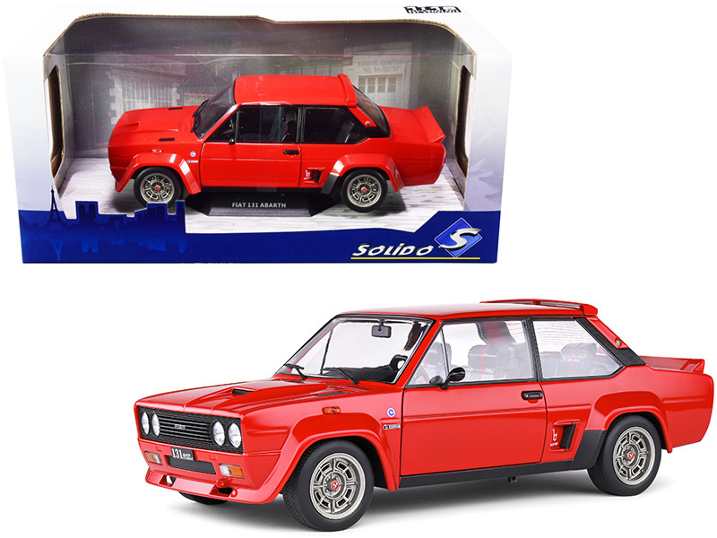 1980 Fiat 131 Abarth Rouge Red 1/18 Diecast Model Car Solido S1806002