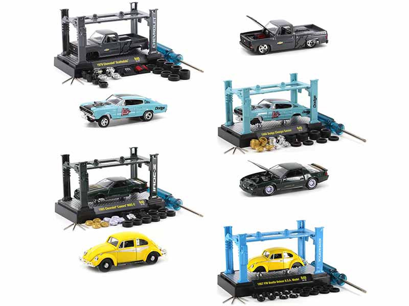 Model Kit 4 piece Car Set Release 40 Limited Edition 8280 pieces Worldwide 1/64 Diecast Model Cars M2 Machines 37000-40