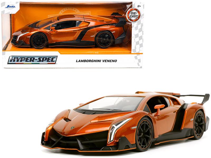 Lamborghini Veneno Bronze Metallic Hyper-Spec Series 1/24 Diecast Model Car Jada 32723