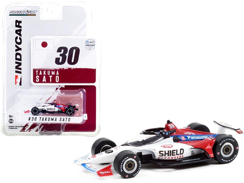 Dallara IndyCar #30 Takuma Sato Shield Cleansers Rahal Letterman Lanigan Racing NTT IndyCar Series 2021 1/64 Diecast Model Car Greenlight 11516