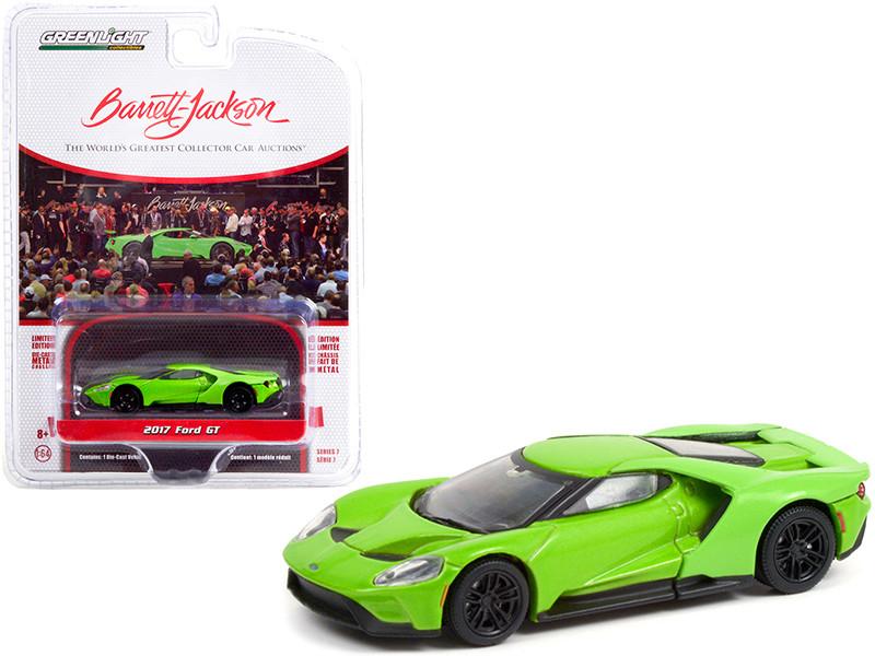 2017 Ford GT Verde Mantis Green Lot #1417 Barrett Jackson Scottsdale Edition Series 7 1/64 Diecast Model Car Greenlight 37230 E