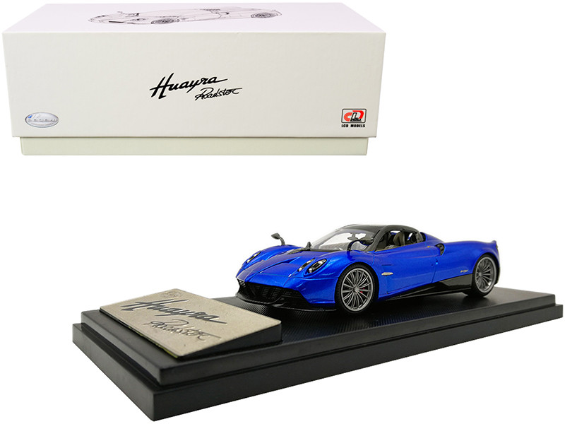 Pagani Huayra Roadster Blue Metallic Carbon Accents 1/43 Diecast Model Car LCD Models 43003