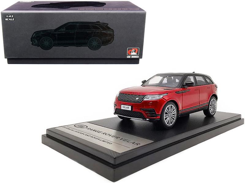 Land Rover Range Rover Velar First Edition Sunroof Red Metallic Black 1/43 Diecast Model Car LCD Models 43004