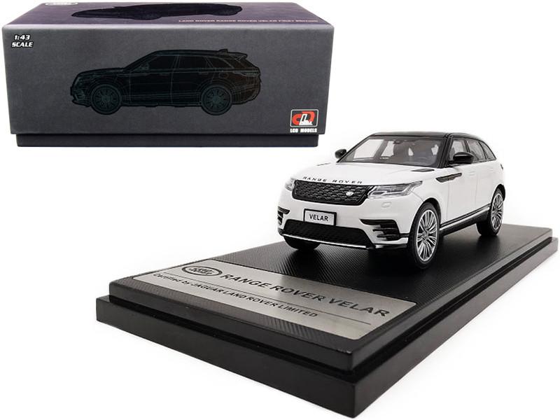 Land Rover Range Rover Velar First Edition Sunroof White Black 1/43 Diecast Model Car LCD Models 43004