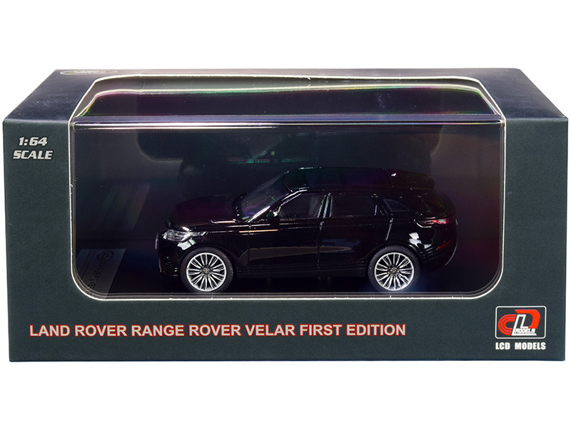 Land Rover Range Rover Velar First Edition Sunroof Black Metallic 1/64 Diecast Model Car LCD Models 64001