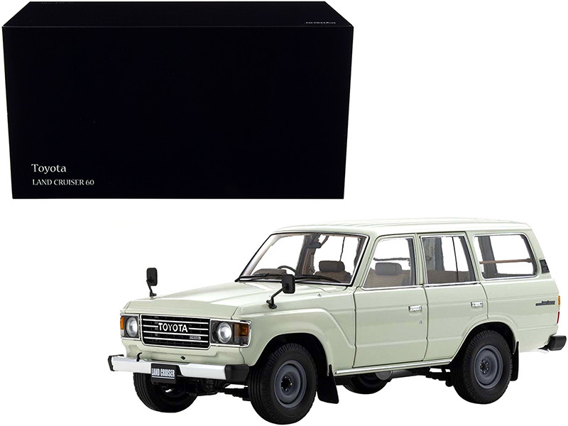 Toyota Land Cruiser 60 RHD Right Hand Drive White 1/18 Diecast Model Car Kyosho 08956 W