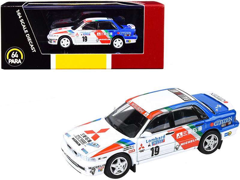 Mitsubishi Galant VR-4 #19 Salonen Silander Lombard RAC Rally 1989 1/64 Diecast Model Car Paragon PA-55104