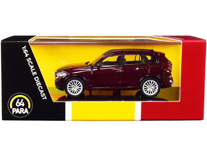 BMW X5 G05 with Sunroof Ametrine Red Metallic 1/64 Diecast Model Car Paragon PA-55184