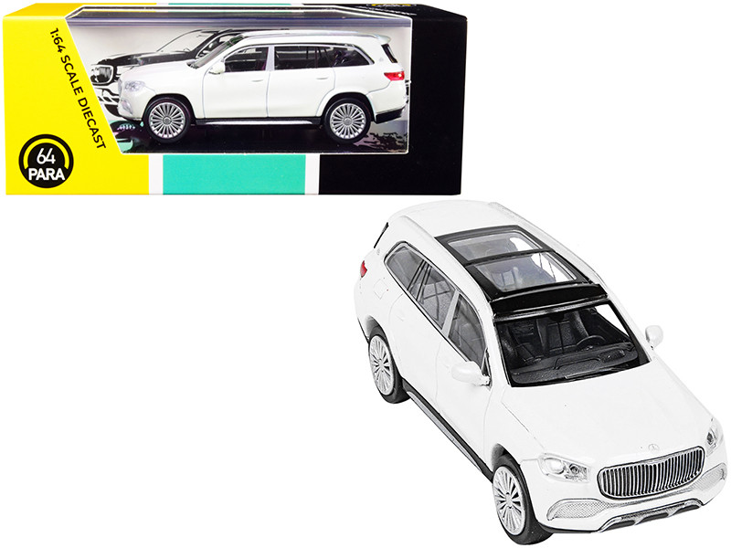 Mercedes-Maybach GLS 600 with Sunroof White Metallic 1/64 Diecast Model Car Paragon PA-55302