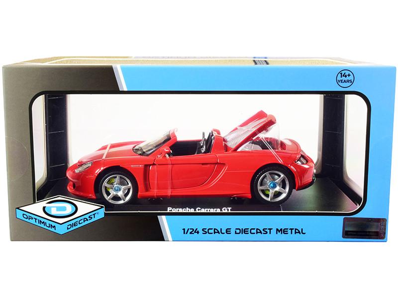 Porsche Carrera GT Convertible Red 1/24 Diecast Model Car Optimum Diecast 724242