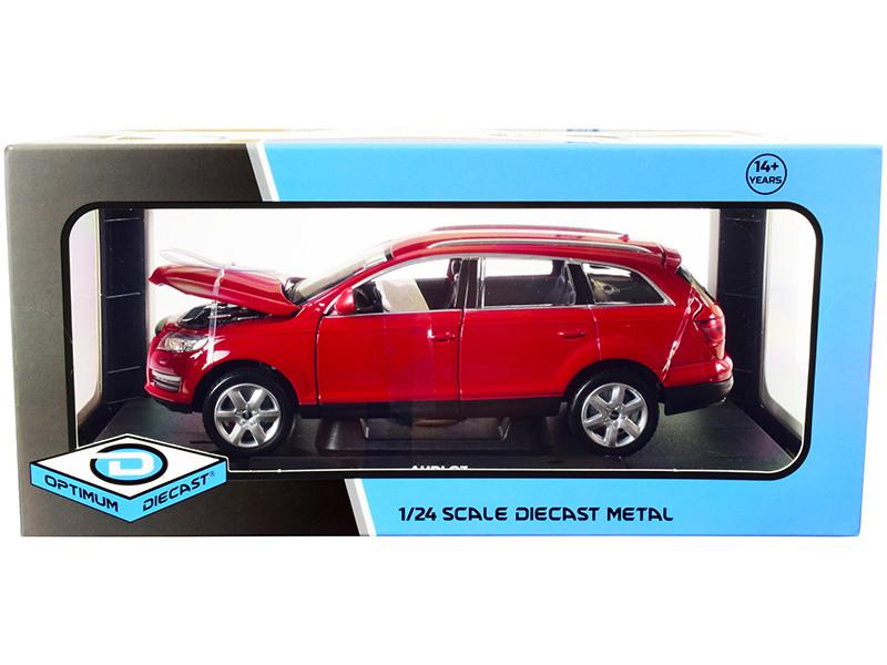 Audi Q7 Red 1/24 Diecast Model Car Optimum Diecast 724249