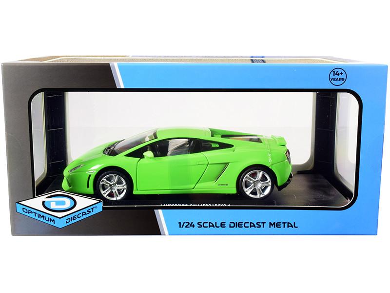 Lamborghini Gallardo LP560-4 Bright Green 1/24 Diecast Model Car Optimum Diecast 724253