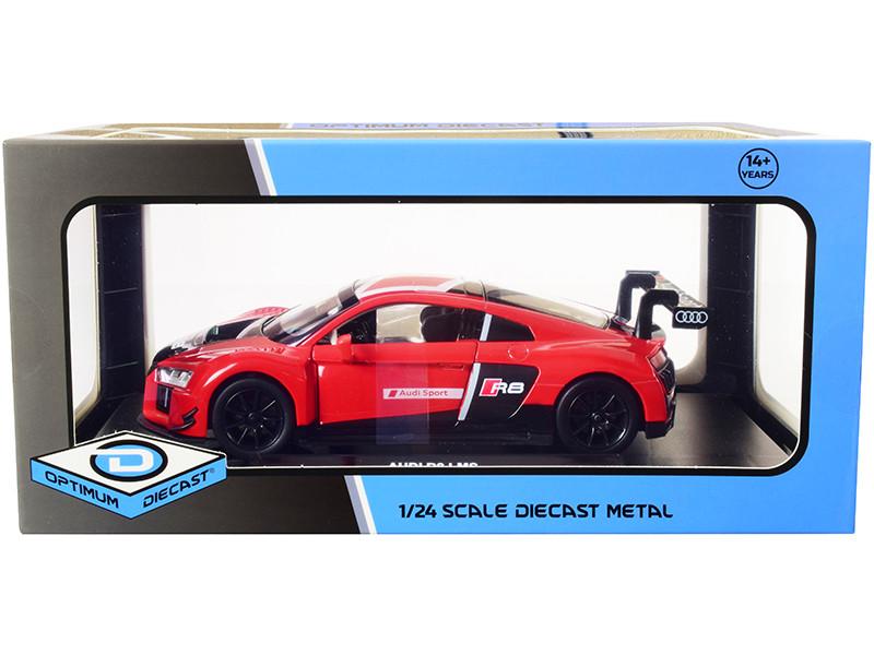 Audi R8 LMS Red Black 1/24 Diecast Model Car Optimum Diecast 724262