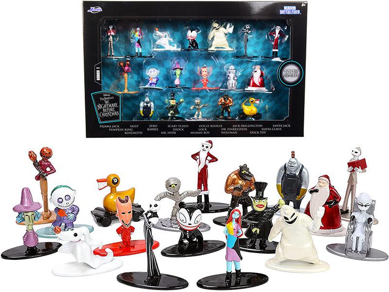 Tim Burton's The Nightmare Before Christmas Set of 18 Diecast Figurines Nano Metalfigs Series Jada 32912