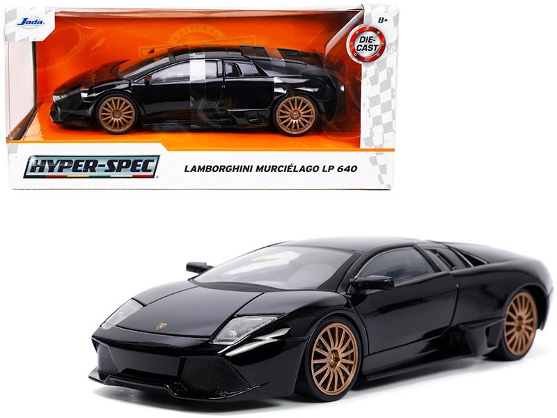 Lamborghini Murcielago LP640 Black Copper Wheels Hyper-Spec Series 1/24 Diecast Model Car Jada 32946