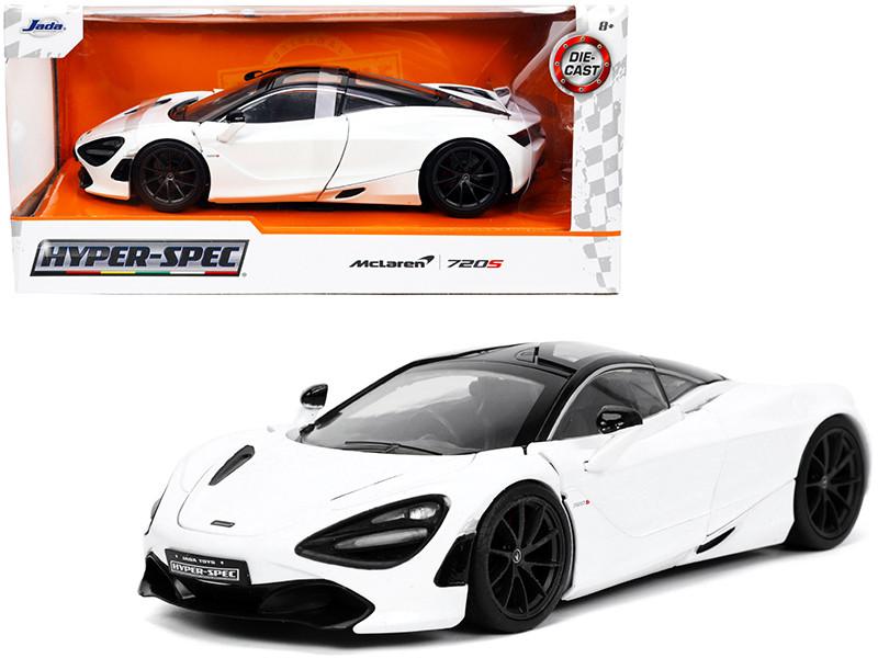 McLaren 720S White Black Top Hyper-Spec Series 1/24 Diecast Model Car Jada 32948