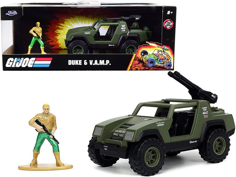 V.A.M.P. Olive Green Duke Diecast Figurine G.I. Joe Hollywood Rides Series 1/32 Diecast Model Car Jada 33083