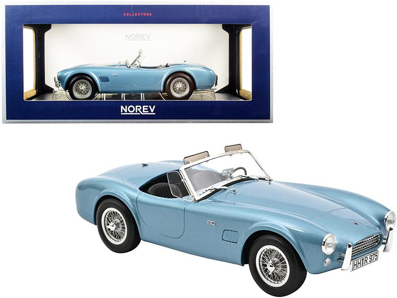 1963 Shelby AC Cobra 289 Light Blue Metallic 1/18 Diecast Model Car Norev 182756