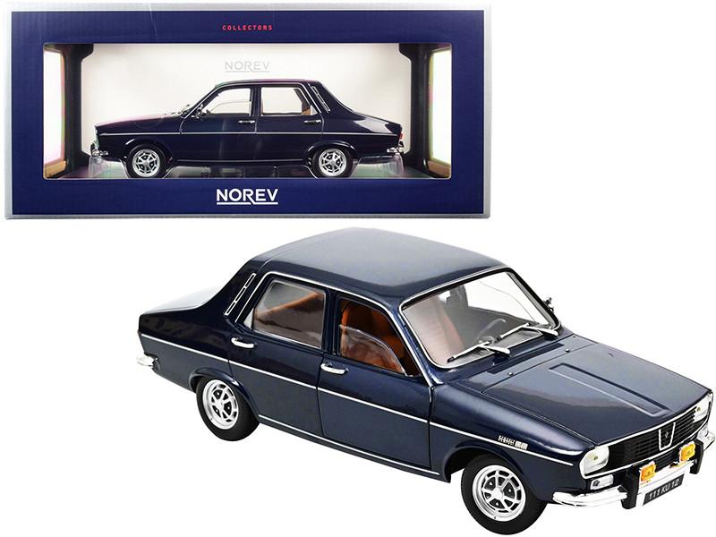 1973 Renault 12 TS Dark Blue Metallic 1/18 Diecast Model Car Norev 185214