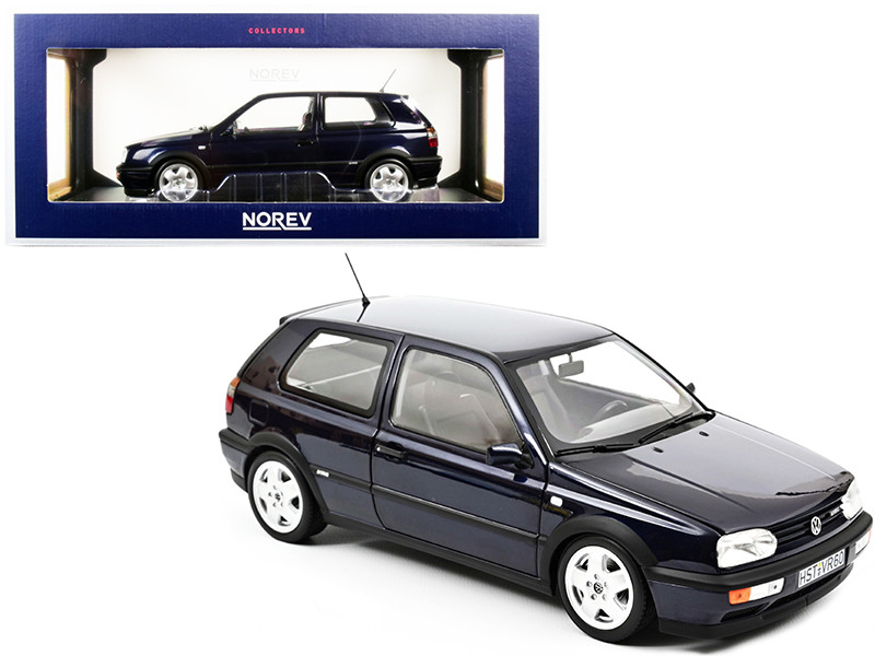 1996 Volkswagen Golf VR6 Dark Blue Metallic 1/18 Diecast Model Car Norev 188462