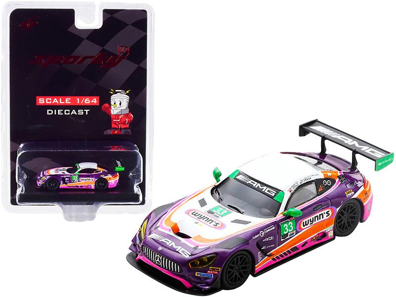 Mercedes-AMG GT3 #33 Keating Bleekemolen Stolz Fraga Wynn's Riley Motorsports Team AMG 24 Hours Daytona 2019 1/64 Diecast Model Car Sparky Y185B