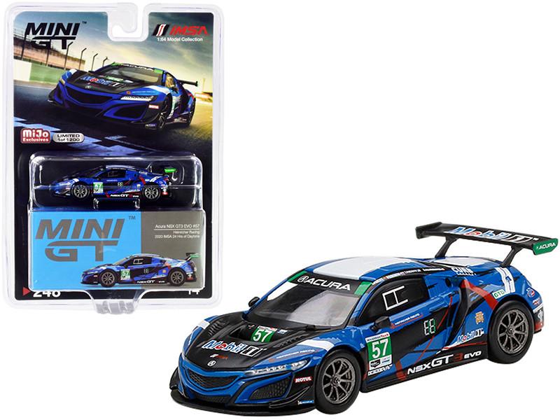 Acura NSX GT3 EVO #57 Heritage Racing IMSA 24 Hours Daytona 2020 Limited Edition 1200 pieces Worldwide 1/64 Diecast Model Car True Scale Miniatures MGT00248