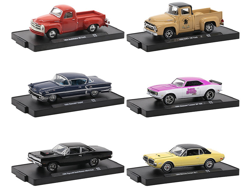 Auto-Drivers Set of 6 pieces in Blister Packs Release 76 Limited Edition 8480 pieces Worldwide 1/64 Diecast Model Cars M2 Machines 11228-76