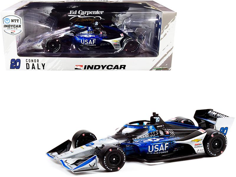 Dallara IndyCar #20 Conor Daly U.S. Air Force Ed Carpenter Racing Road Course Configuration NTT IndyCar Series 2021 1/18 Diecast Model Car Greenlight 11124