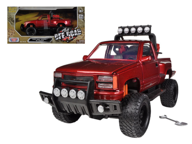 1992 GMC Sierra GT Pickup Truck Off Road Red 1/24 Diecast Model Motormax 79136
