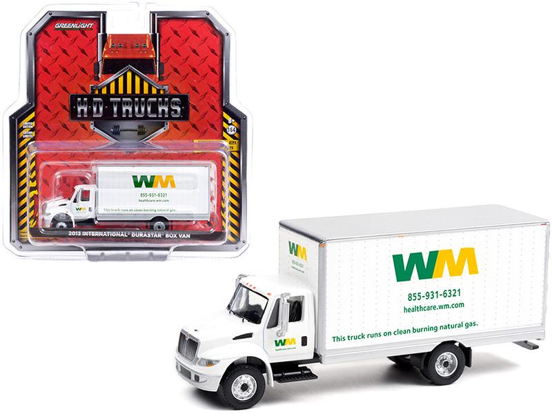 2013 International DuraStar Box Van Waste Management White HD Trucks Series 21 1/64 Diecast Model Greenlight 33210 A